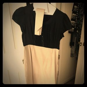 H&M size 6 black and khaki dress